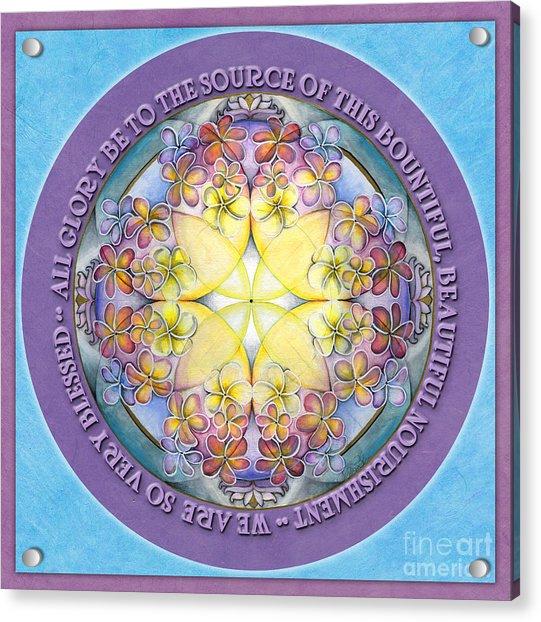 We Are Blessed Mandala Prayer Acrylic Print