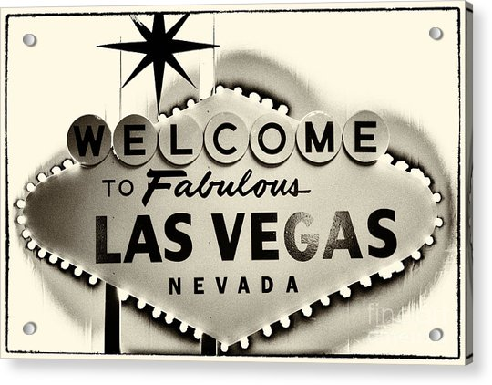 Welcome To Fabulous Las Vegas Nevada Acrylic Print