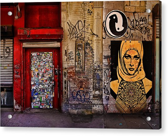 Acrylic Print featuring the photograph West Village Wall Nyc by Chris Lord