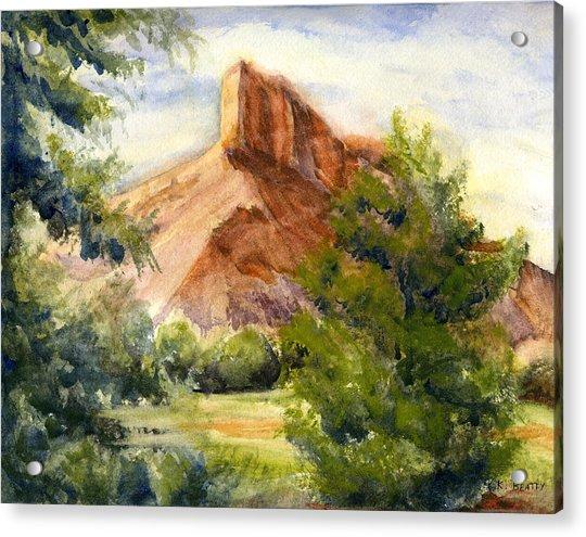 Western Landscape Watercolor Acrylic Print