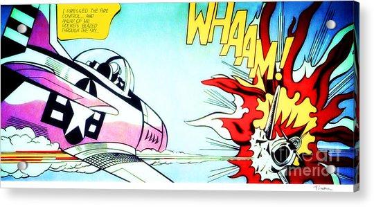 Whaam - Roy Lichtenstein  Acrylic Print