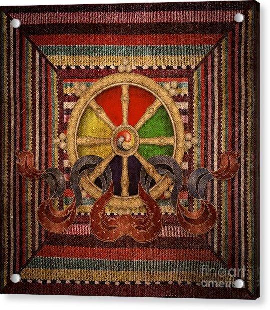 Wheel Of The Dharma Acrylic Print