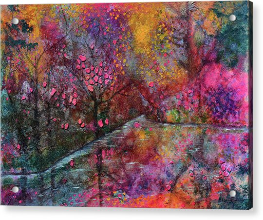 When Cherry Blossoms Fall Acrylic Print