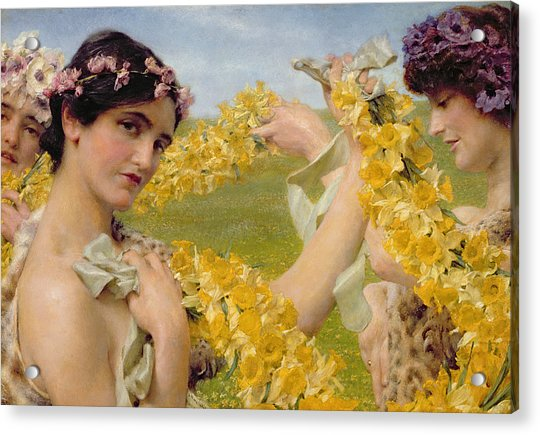 When Flowers Return Acrylic Print