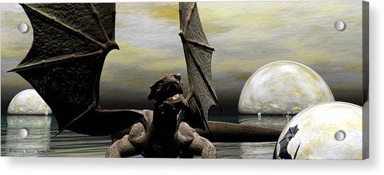 Where Dragons Be Acrylic Print by Sandra Bauser Digital Art