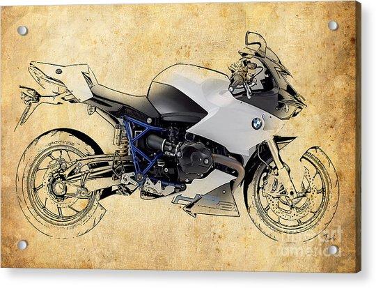 White Motorcycle Bmw Acrylic Print