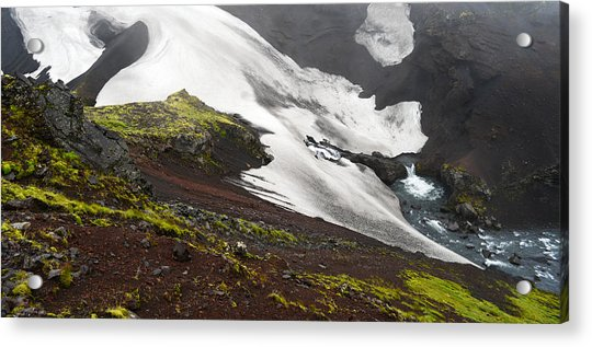 White On Black In The Icelandic Highlands Acrylic Print