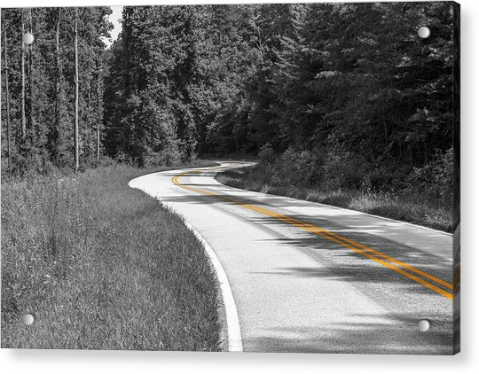 Winding Country Road In Selective Color Acrylic Print