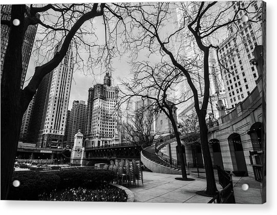 Windy Mornings In The Chi  Acrylic Print