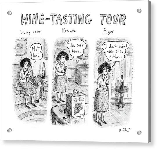 Wine-tasting Tour Acrylic Print