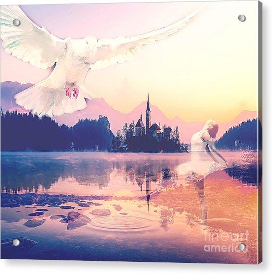 Wings Of Grace Acrylic Print