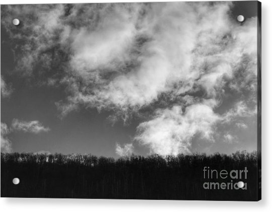 Winter Clouds Over The Delaware River Acrylic Print