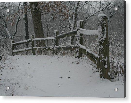 Winter Fence Trail H Acrylic Print