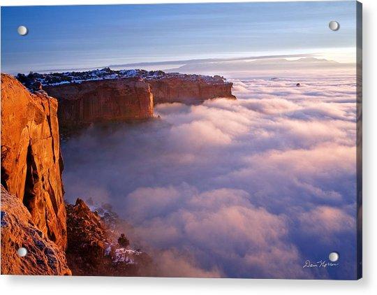 Winter Inversion At Sunrise Acrylic Print