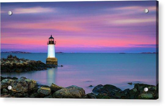 Winter Island Light 1 Acrylic Print