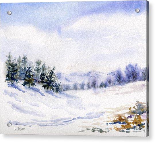 Winter Landscape Snow Scene Acrylic Print