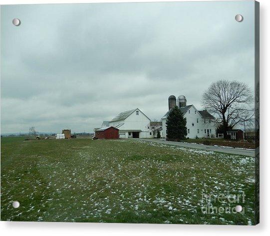 Winter Letting Go Acrylic Print