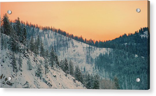 Winter Mountainscape  Acrylic Print