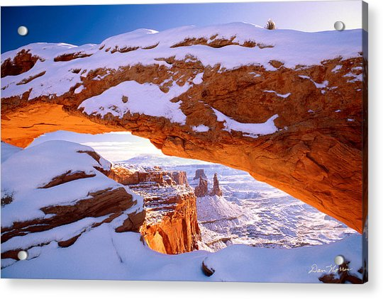 Winter Sunrise At Mesa Arch Acrylic Print