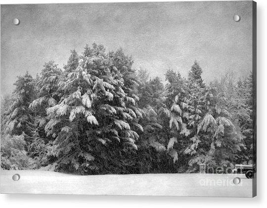 Winter Vintage Acrylic Print