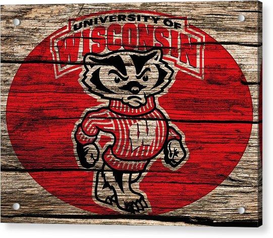 Wisconsin Badgers Barn Door Acrylic Print
