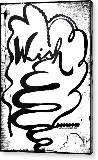 Acrylic Print featuring the drawing Wish by Rachel Maynard