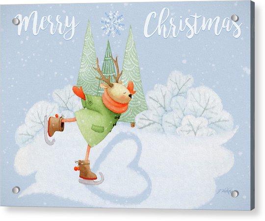 With All My Heart - Christmas Art Acrylic Print