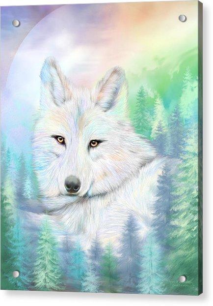 Wolf - Spirit Of Illumination Acrylic Print