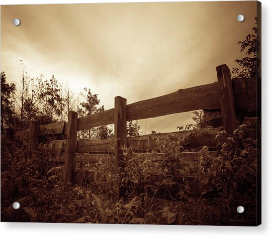 Wooden Fence Acrylic Print