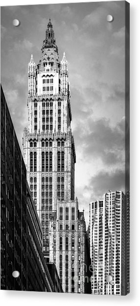 Acrylic Print featuring the photograph Woolworth Building by Juergen Held
