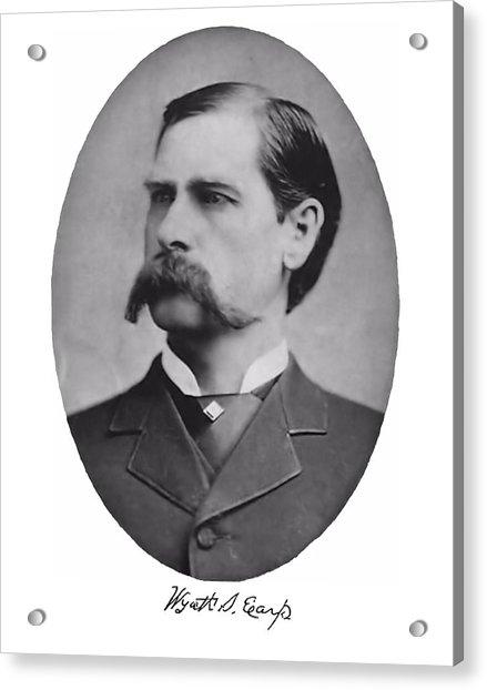 Wyatt Earp Autographed Acrylic Print