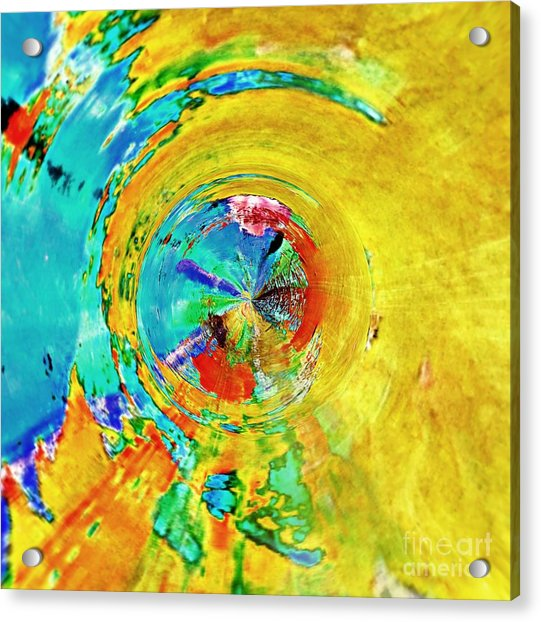 Yellow Eclipse  Acrylic Print