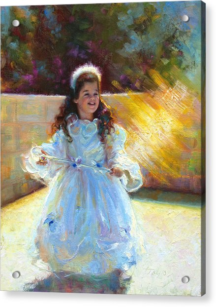 Acrylic Print featuring the painting Young Queen Esther by Talya Johnson