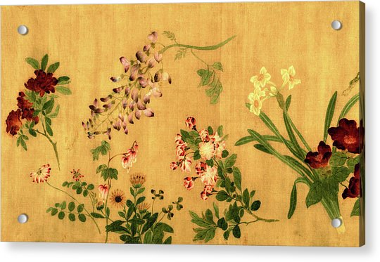 Yuan's Hundred Flowers Acrylic Print