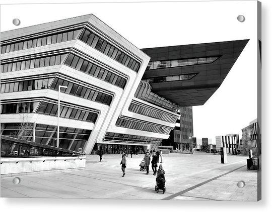 Zaha Hadid Library Center Wu Campus Vienna Acrylic Print