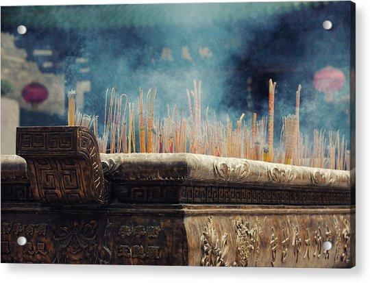 Ancient Dafo Buddhist Temple Acrylic Print by Tunart