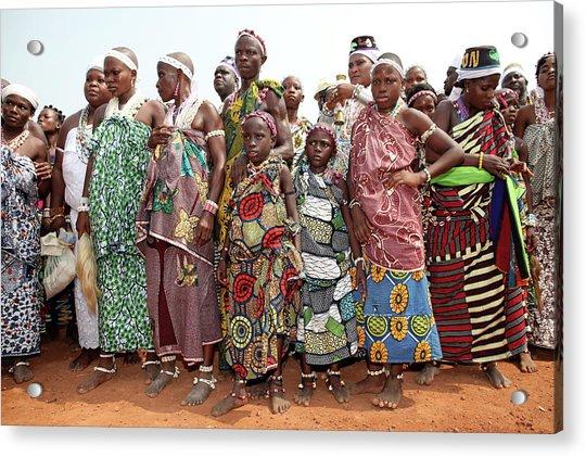 Benins Mysterious Voodoo Religion Is Acrylic Print by Dan Kitwood