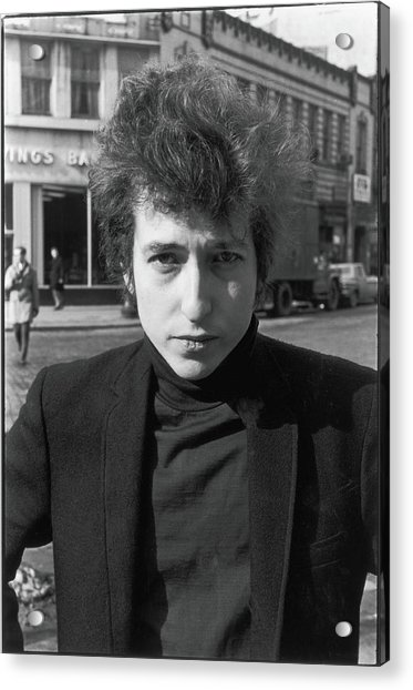 Bob Dylan In Sheridan Square Park Acrylic Print by Fred W. McDarrah