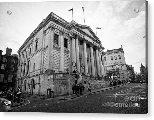 Dublin City Hall Originally The Royal Exchange Dublin Republic Of Ireland Europe Acrylic Print by Joe Fox