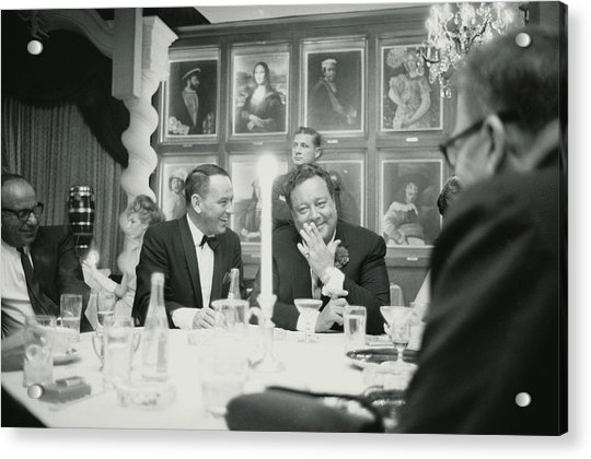 Frank Sinatra L Sharing A Laugh With Acrylic Print