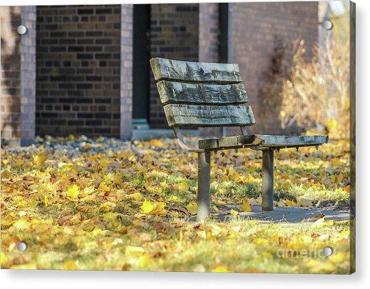 Just A Bench Acrylic Print