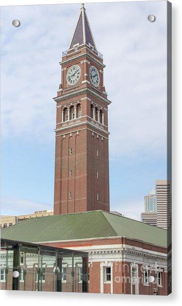 King Street Station Clock Tower Seattle Washington R1417 Acrylic Print