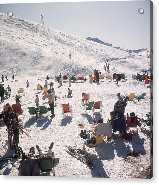 Skiers At Verbier Acrylic Print