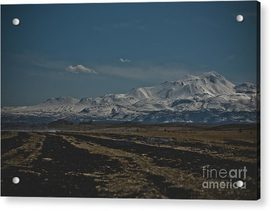 Snow-covered Mountains In The Turkish Region Of Capaddocia. Acrylic Print
