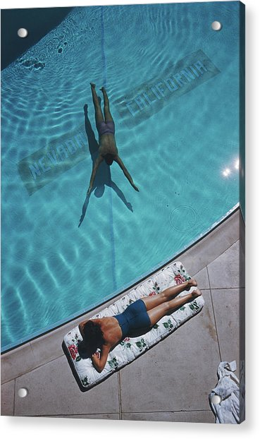 Swimmer And Sunbather Acrylic Print