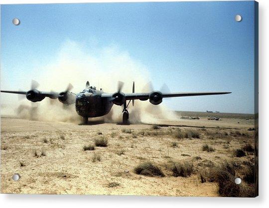 U.s Airforce Base Benghazi Libya Acrylic Print by Michael Ochs Archives