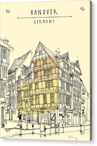 View Of Old Center In Hanover, Germany Acrylic Print