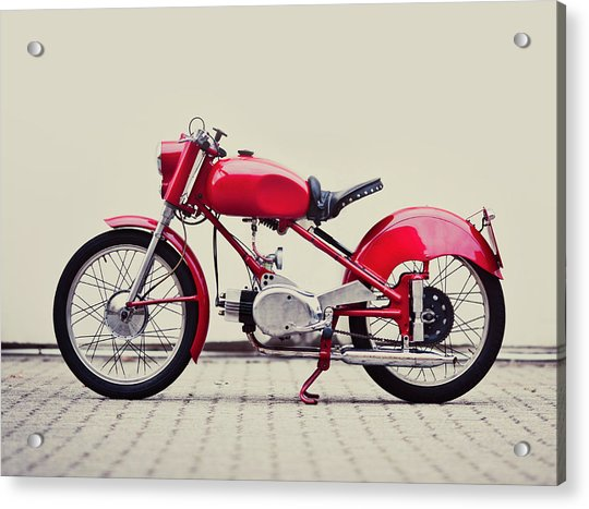 Vintage Italian Motorcycle Acrylic Print by Thepalmer