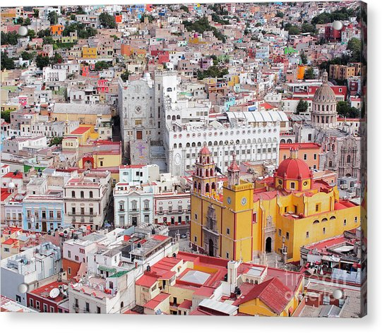 16th Century Colonial Buildings In The Acrylic Print