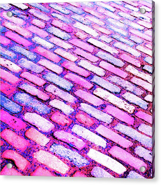 Diagonal Street Cobbles Acrylic Print